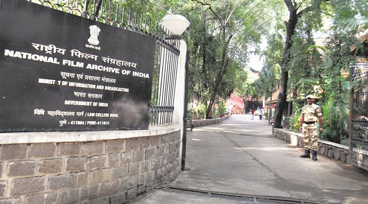 Outside the National Film Archive of India in Pune. (Express photo/Arul Horizon)