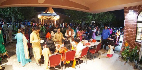 Ticket sales at Diwali Mela at Arya Samaj.