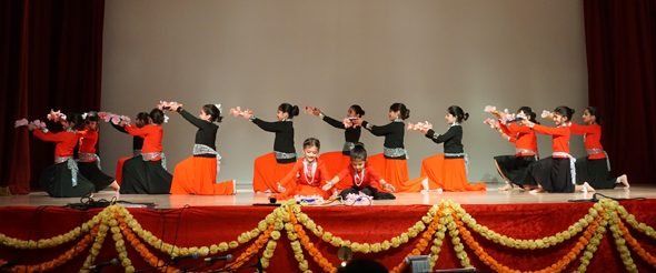 DAV Sanskriti School Children Performing Diwali Dance Number.