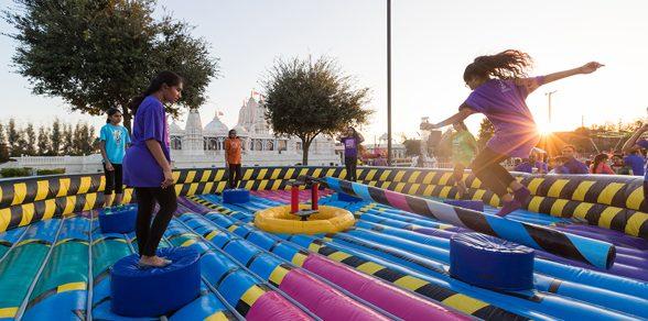 Children enjoy games with friends at the Kids Diwali Celebration.