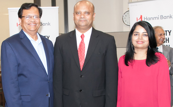 Gitesh Desai and Kavita Tewary with India's Consul General Dr. Anupam Ray