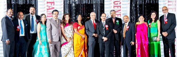 The fourteen Board of Directors of the IACF posed after the Gala.