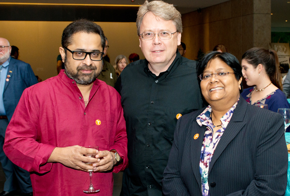 From left: Director Suman Ghosh, Director John Upchurch and Festival Director Sutapa Ghosh.