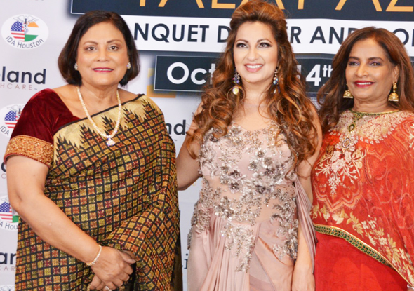 At the fundraiser, from left, Dr. Madhu Aggarwal, Chair of AAPI's Charitable Foundation; Dr. Manju Sachdev, AAPI past Treasurer and Board Member and Dr. Udaya Shivangi, Chair of AAPI's Women's Physician Committee
