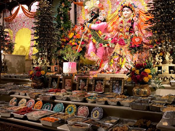Annakut at Sri Sri Radha Nilamadhava altar.
