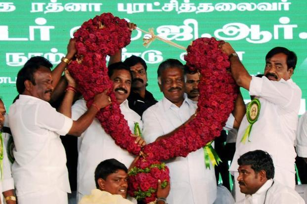 Amid a year-long political chaos, the factions led by Palaniswami and Panneerselvam buried the hatchet in August, sidelining the aunt-nephew due of Sasikala and Dhinakaran. Photo: PTI