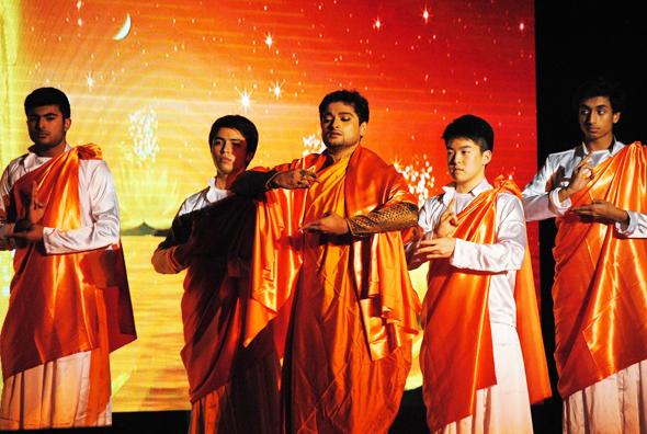 Shouvik Chakraborty in the first dance segment. Photos: Jasleen Kaur