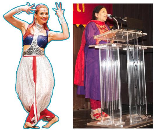 Arzan Gonda (left), Artistic Director & Founder of Rhythm India Dance Company and Rathna Kumar, Artistic Director of Samskriti.