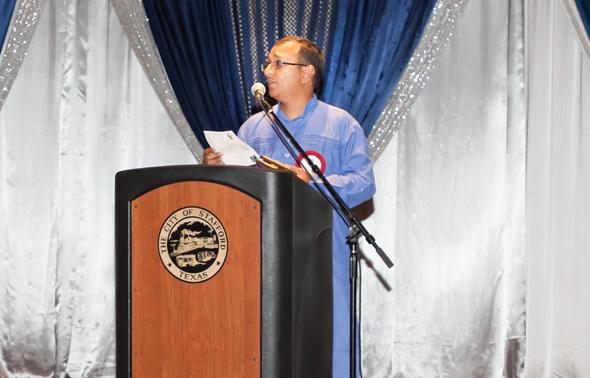 Sewa Chapter Coordinator Achalesh Amar inviting organization representatives.
