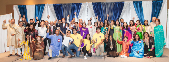 Sewa team and volunteers celebrating the lovely and inspiring evening.
