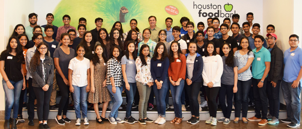 YLDP Houston students with Brian Greene, CEO and President of the Houston Food Bank