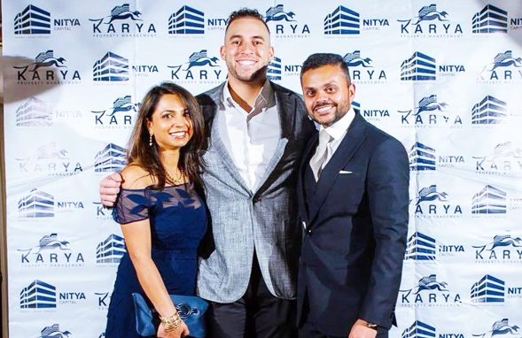 Swapnil & Deepika Agarwal with Houston Astro George Springer who recently joing the Karya team as the Brand Ambassador for 2018.