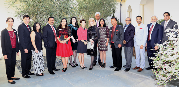 Pratham Houston Board of Directors along with Keynote Speaker Gabriella Rowe and Co-Chair Susan Boggio at the Pratham Holiday Luncheon & Fashion Show on Friday, December 1 at The Junior League of Houston.