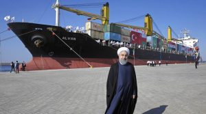 Chabahar port: Iranian President Hassan Rouhani poses during the inauguration a newly built extension of the port of Chabaha, near the Pakistani border, on the Gulf of Oman, southeastern Iran. (AP)