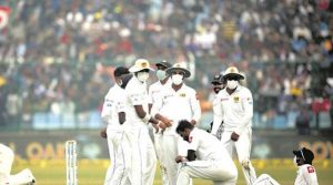 Play was interrupted twice due to Sri Lankans' discomfort. (Express photo by Praveen Khanna)