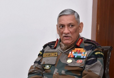 Army Chief Gen Bipin Rawat during an interview with PTI at his residence in New Delhi on Saturday. PTI Photo by Arun Sharma