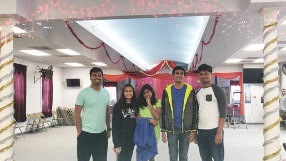 HWS Youth Decorators: Akshit Lashkari, Riya Patel, Nehal Barnwal, Priyanshu Barnwal and Ritvik Lashkari
