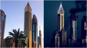 The Gevora Hotel stands 356m tall with 75 storeys, and is within viewing distance of its predecessor which it overshot by just a metre. (Source: Gevora Hotel/Facebook)