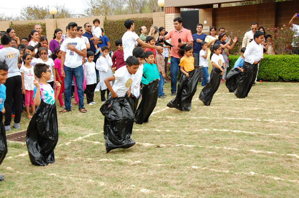 Kids participating in various games and fun activities