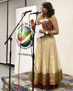 Sangeeta Pasrija, emcee for the event