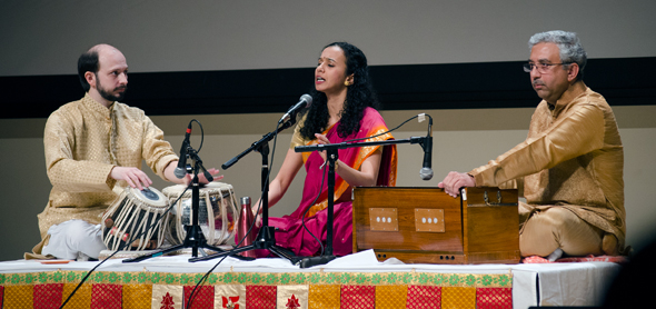 Vocalist Bhageshri Gulvady Karkal with Jason Zinn on Tabla and Sri. Mandar Phadke on Harmonium