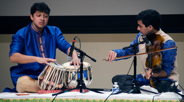 A presentation of Carnatic music by violinist Abhishek Balakrishnan with Aditya Srivatsan on Tabla