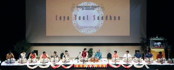Performers with their Guru, Pt. Shantilal Shah