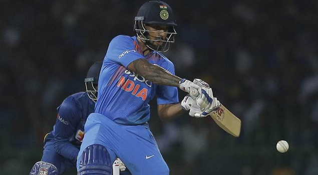 Shikhar Dhawan settled India after skipper Rohit Sharma and Suresh Raina departed cheaply. (AP)