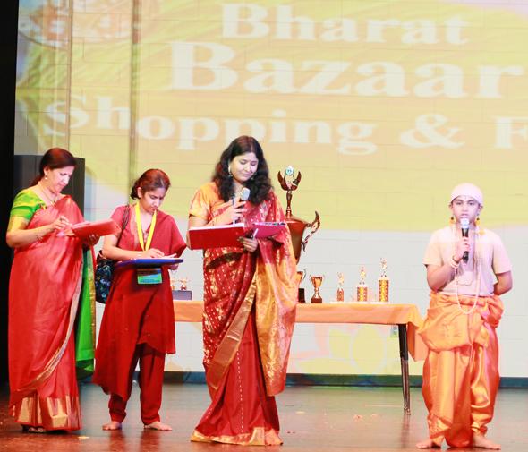 Champion Sai Pardhu Aki for Sloka-Thon along with teachers
