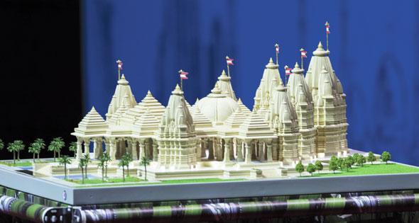 Model ofBAPS Hindu Mandir, Abu Dabhi, UAE