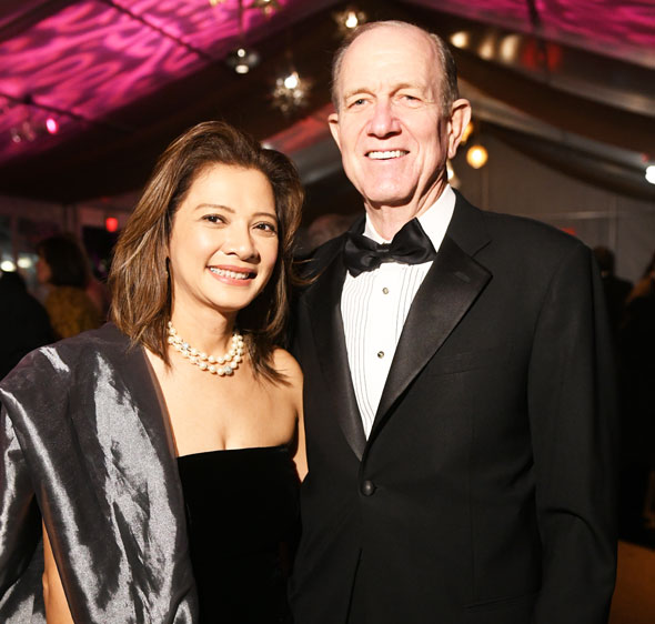 Bonna Kol (Asia Society president) and Brad Bucher (honorary board director)