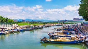 Chung Kang fishing port with boats and nature in Taipei. (Source: Thinkstock images)
