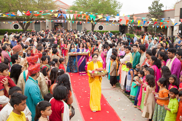 Brni. Shweta Chaitanya leading Maa Sita procession