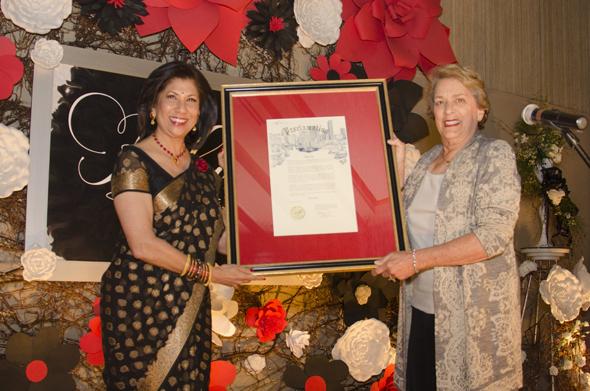 Daya Board President Sheela Rao with Houston Mayor Pro Temp, Ellen Cohen