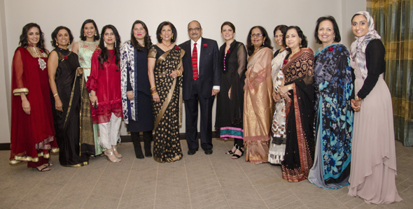 Daya Board Members with Sharmeen Obaid-Chinoy at Daya's annual gala held on Saturday, April 7 at the Westside Omni Hotel. Photos: Jibreel Photography