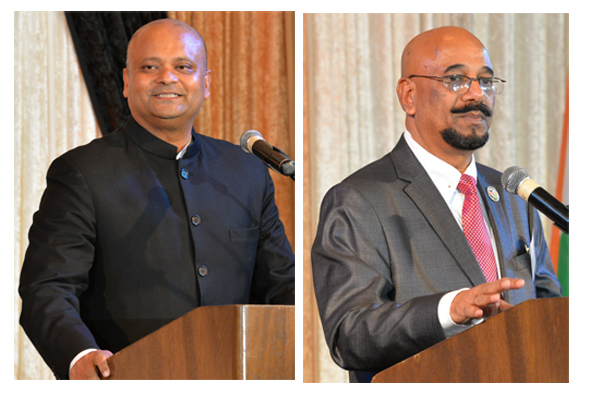 Consul General of India, Dr. Anupam Ray & Col. Vipin Kumar, Executive Director of India House