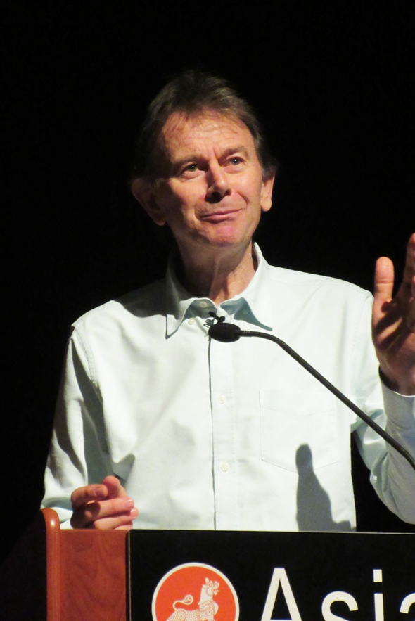 The celebrated historian, filmmaker, broadcaster and author Michael Wood gave a talk on the Mughal Emperor Akbar at the Asia Society on Tuesday, May 10.