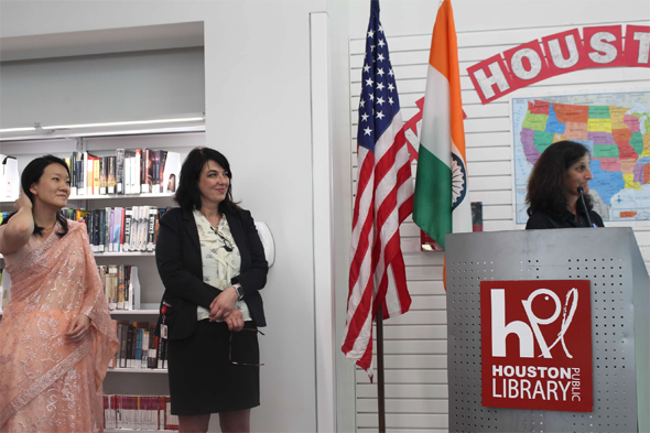 Helen Chou and Jennifer Schwartz, of HPL managed and Emceed the 4-hour long program that also included an interactive Q&A session with the astronaut.
