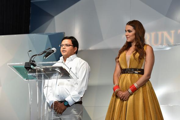 Ganpat Luche, Former Pratham Vocational training student with Host & Bollywood star Neha Dhupia.