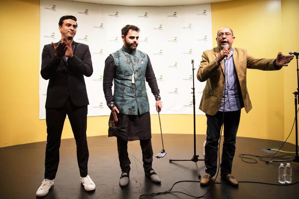 Varun Thakur (left ) with Sunny Moza & Arif Memon