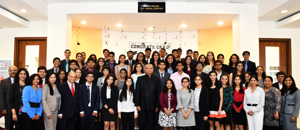 YLDP graduating class of 2018 and YLDP Board of Directors with Consul General of India, Dr. Anupam Ray at the Graduation 2018 ceremony at India House on Saturday, May 19.