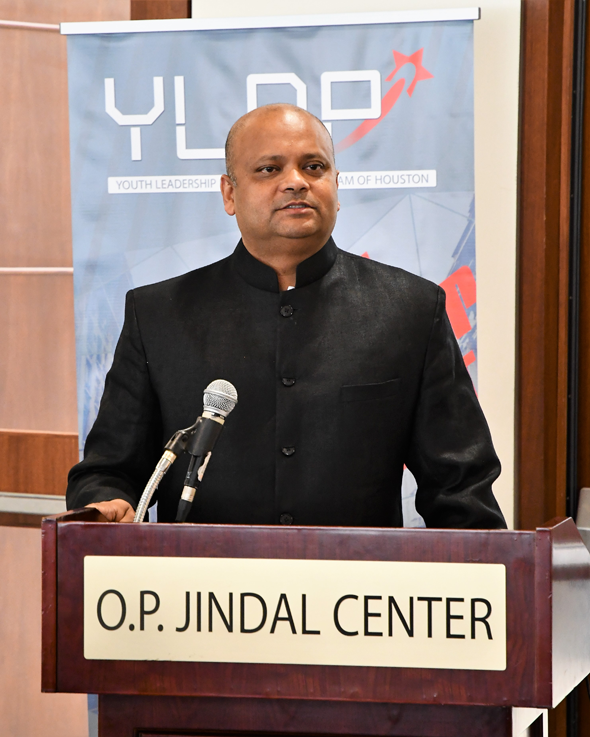 Chief Guest, Consul General of India, Dr. Anupam Ray at the YLDP Graduation Event on Saturday, May 19 at India House.