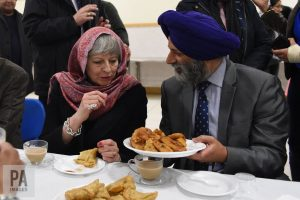 Prime minister Theresa May attends a Vaisakhi celebration - marked by Sikhs and Hindus.