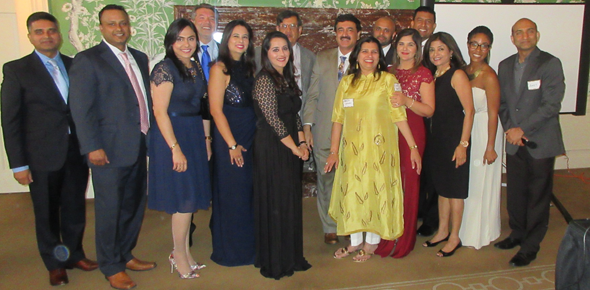 The 2018 graduates of the SOS program with founder Biki Mohindra and SOS President & CEO Qusai Mahesri in the center.