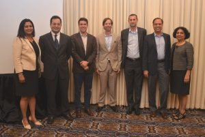From left: Vinita Gupta, Co-CEO APEX Resources, Moderator; Dr. Ram Shenoy, TiE Houston Board Member; Charles Leykum, Founder of CSL Capital Management; Kirk Coburn, Head of Ventures for Shell; Bruno Courme, VP Exploration Americas for http://us.total.com/en-us/total-epTotal E&P Americas, LLC; Dr. Arun Pasrija - TiE Houston President, and Dr. Roopa Gir - iEducate President, Moderator.