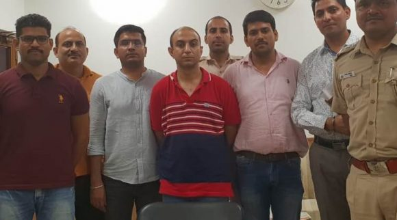 Major Nikhil Rai Handa was nabbed from Uttar Pradesh's Meerut on Sunday and his interrogation was on.