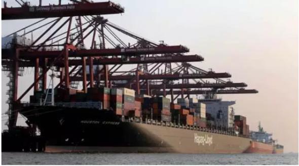Ships unload containers at the Jawaharlal Nehru Port. (Express Photo/Prashant Nadkar/File)