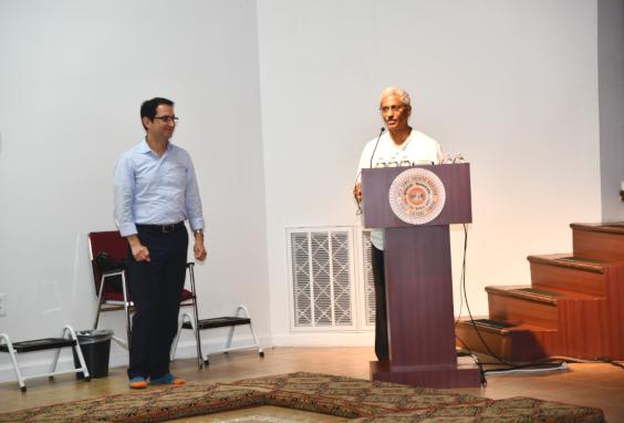 Dr. Jagannadha Sastry introducing Dr. Hussein Tawbi