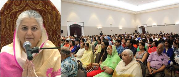 Holy Sister Mohini Ahuja Ji presided over the Sant Nirankari Spiritual Summit held June 30 and July 1.