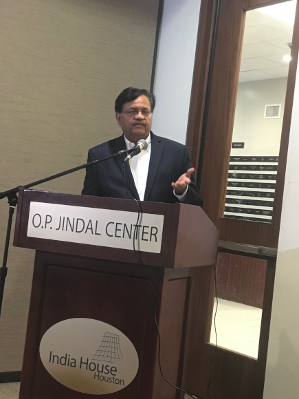 Sewa International Houston President Gitesh Desai reciting one of the poems written by Atal ji.
